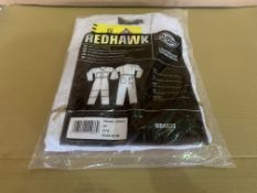 8 X BRAND NEW DICKIES REDHAWK WHITE COVERALLS (SIZES MAY VARY) R15 P