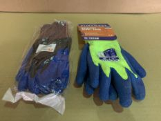 60 X BRAND NEW PAIRS OF ASSORTED WORK GLOVES IN VARIOUS STYLES AND SIZES R15