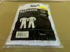 9 X BRAND NEW DICKIES REDHAWK WHITE COVERALLS (SIZES MAY VARY) R15 P