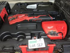 MILWAUKEE 12V 2.0AH LI-ION REDLITHIUM CORDLESS PIPE CUTTER COMES WITH 1 BATTERY , CHARGER AND