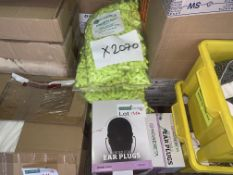 2070 X VARIOUS BRAND NEW EAR PLUGS R15