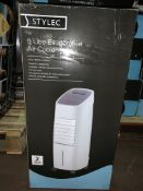 2 X BOXED STYLEC 9 LITRE EVAPORATIVE AIR COOLER POWERFUL 3 SPEED FAN REMOTE CONTROLLED 3 MODES