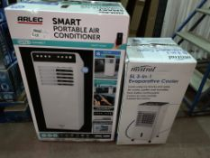 2 X BOXED ARLEC 3.5 LITRE 3 IN 1 MOBILE COOLER REMOTE CONTROLLED UNIQUE FILTER PROVIDES MAX