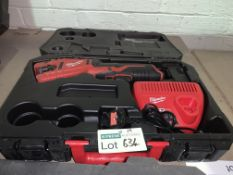 MILWAUKEE C12PC-201C 12V 2.0AH LI-ION REDLITHIUM CORDLESS PIPE CUTTER COMES WITH CHARGER AND CARRY