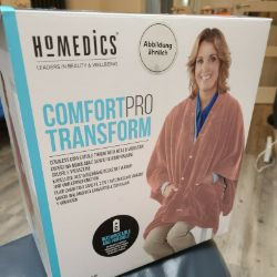 3 X NEW BOXED HoMedics Comfort Pro Transform Throw with Vibrating Massage and Optionally Independent