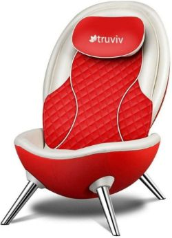 BRAND NEW TRUVIV TRU SHELL LUXURY MASSAGE CHAIR RRP £1999 RED - ROW 4