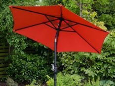 2 X NEW BOXED LUCEAR 2M ROUND GARDEN PARASOLS (ROW3)