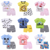 (NO VAT) 10 X BRAND NEW BABYS WORLD SMILEY FACE CAR PJ SETS IN VARIOUS SIZES S1