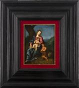 Spanish-Flemish school second half of the 16th century. Virgin with Child and the Infant Saint John.