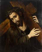 Spanish school of the 16th century. Christ carrying the cross.