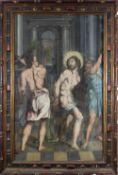Spanish-Flemish school of the 16th century. Follower of Pedro de Campaña. The Flagellation of Christ