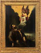 Italian school, 17th century. Vision of Saint Francis.