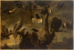 Flemish school, 17th century. Follower of Frans Snyders. Concert of birds.