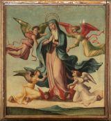 Hispano-Flemish school, 16th century. Ascension of the Virgin.