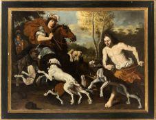 Attributed to Abraham Hondius (Rotterdam, 1625-London, 1691). Hunting scene.