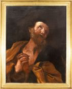 Italian school, 17th century. Follower of Guido Reni. The regret of Saint Peter.