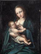 Italian school,17th century. Virgin of the Milk.
