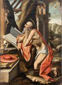 Flemish school, 17th century. Penitent Saint Jerome.