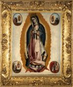 Spanish Colonial school, Mexico, 17th century. Guadalupe's Virgin.