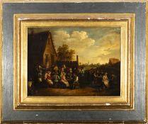 Dutch school, 17th century. Follower of David Teniers. The Village Feast.