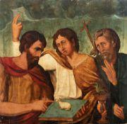 Attributed to Francisco de Comontes (Toledo, 1500- Toledo, 1565). Christ, Saint John the Baptist and