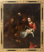 Andalusian school, 17th century.  Follower of Bartolomé Esteban Murillo. Adoration of the shepherds.