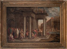 Attributed to Francisco Gutiérrez Cabello (Madrid, h.1616-1670). The expulsion of the merchants from