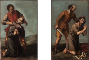 Spanish school, 17th century. Martyrdoms.