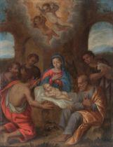 Italian school, late 17th century.Adoration of the shepherds.