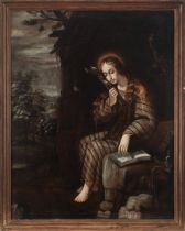 Spanish colonial, Mexico, 17th century. The penitent Magdalene.