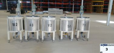 5stainless steel tank INCLUDED 5 MIXER