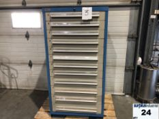 Industrial Metal Drawer Cabinet,12 drawers, 30 wide, 28 deep, 59 high Item Location Montreal