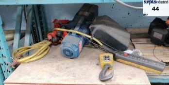 DemagChain hoists 4000 lbs 575 volts