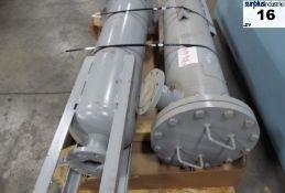 Lot of 2AIR FILTER PNEUMATECH MODEL NUMBER F16C-360-85/G10/H MAX PRESSURE 150 PSIG MAX