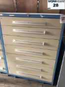 Industrial Metal Drawer Cabinet,7 drawers, 44 wide, 18 deep, 59 high Item Location Montreal