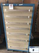 Lyon Industrial Metal Drawer Cabinet,7 drawers, 30 large, 18 deep, 59 high