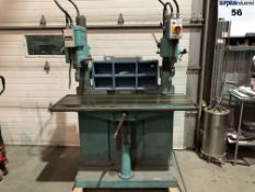 ARBOGA MASKINER brand double column drill, made in suede, 48 '' x 16 '' table, keyless chucks,