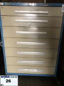 Industrial Metal Drawer Cabinet,7 drawers, 44 wide, 18 deep, 59 high. Item Location Montreal