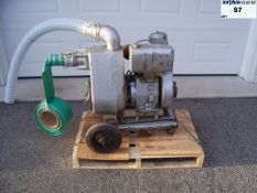 """Monarch 773-GA large flow water pump with Wisconsin AENLD motor, comes with 3 """"suction and discharge"""