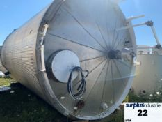 9246 GALLON JACKETED TANK, CARBON STEEL, ULC LISTED, INSULATED, VERTICAL Item Location : Laval -