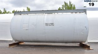 13 200 GALLON CLEMMER TANK, STAINLESS STEEL, ULC VAC-U-TEST DOUBLE WALL, INSULATED, HORIZONTAL