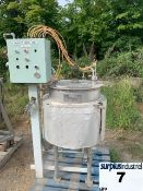 200 LITER JACKETED STAINLESS STEEL MIX TANK Item Location : Laval