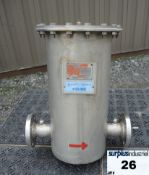 """Lot of 2 FILTER, CARTRIDGE TYPE, 2"""" INLET/OUTLET, STAINLESS STEEL Item Location : Laval -"""