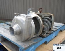 """CENTRIFUGAL PUMP, 3"""" X 2"""" INLET & OUTLET, STAINLESS STEEL, SANITARY Item Location : Laval -IMPERIAL"""