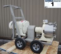 SINE POSITIVE DISPLACEMENT PUMP, MODEL MR135, STAINLESS STEEL, SANITARY Item Location : Laval -
