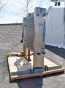 APV SANITARY PLATE HEAT EXCHANGER, APPROX. 1140 SQ.FT. Item Location : Laval -MANUFACTURER:APV -