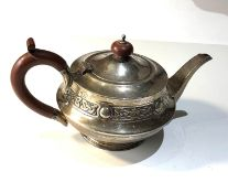Antique batchelor silver tea pot Birmingham silver hallmarks weight 250g