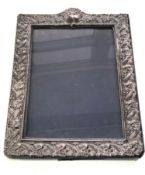 Large Vintage silver picture frame measures approx 36cm by 27cm wide london silver hallmarks