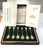 Boxed set of 6 silver the Australian state flowers spoons 169g