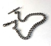 Antique silver Albert watch chain weight 42g